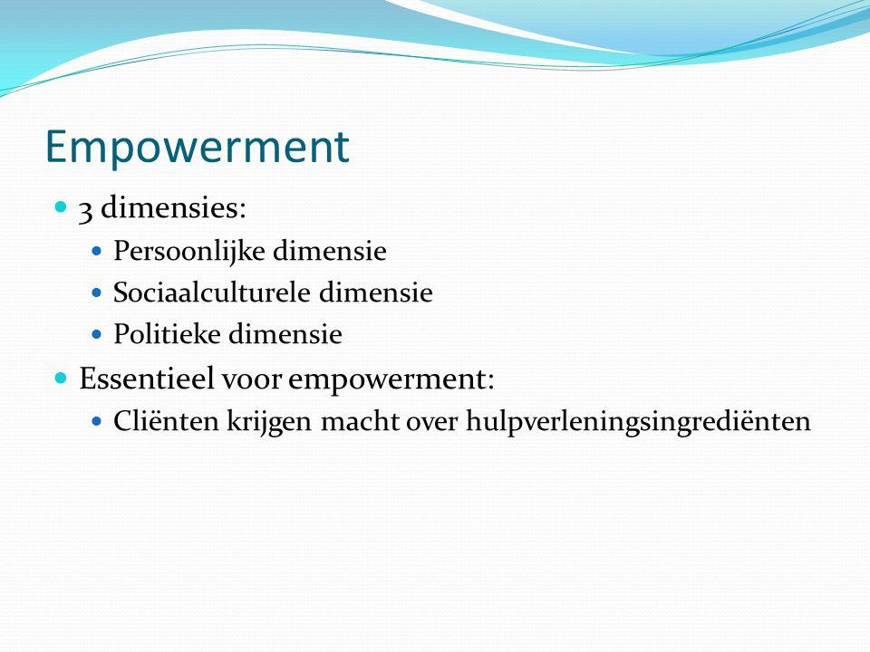 Empowerment 3 dimensies: Essentieel voor empowerment: