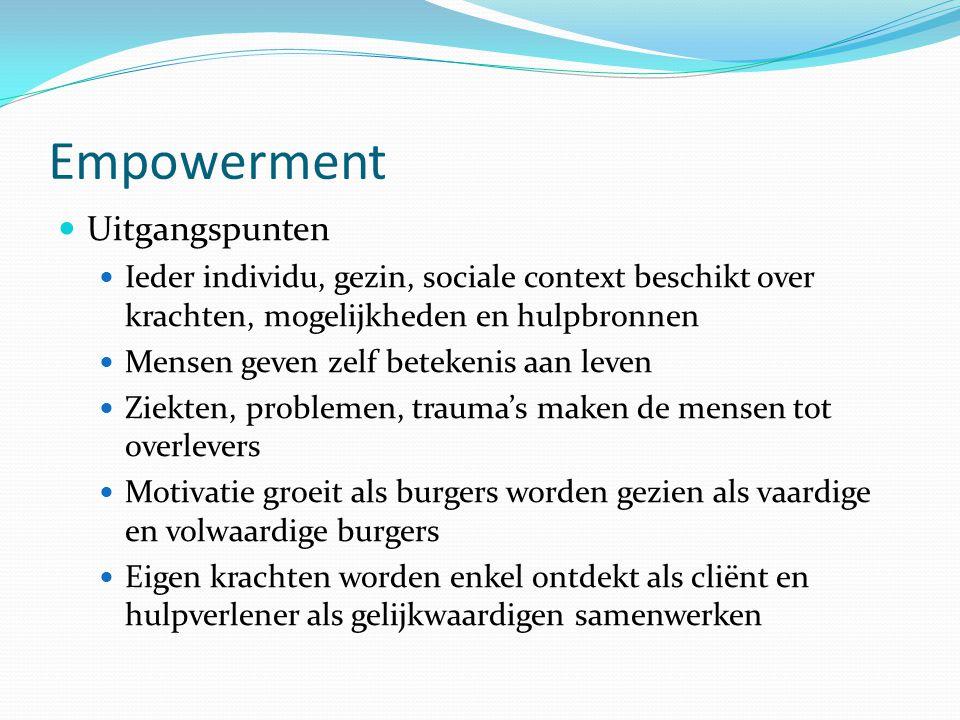 Empowerment Uitgangspunten