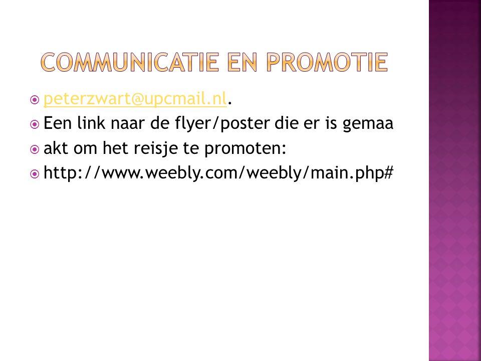 Communicatie en promotie