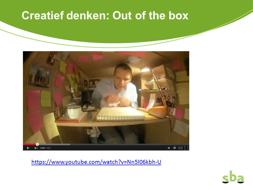 Creatief denken: Out of the box