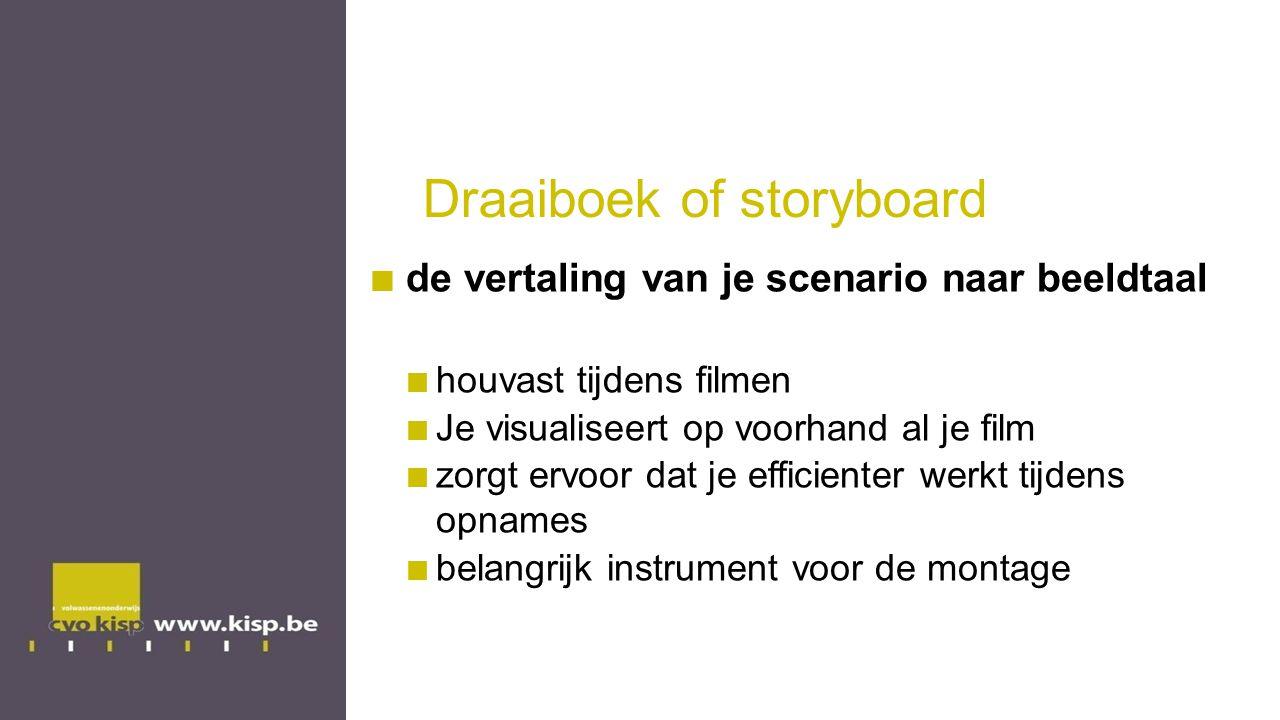 Draaiboek of storyboard