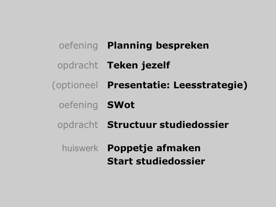 oefening Planning bespreken