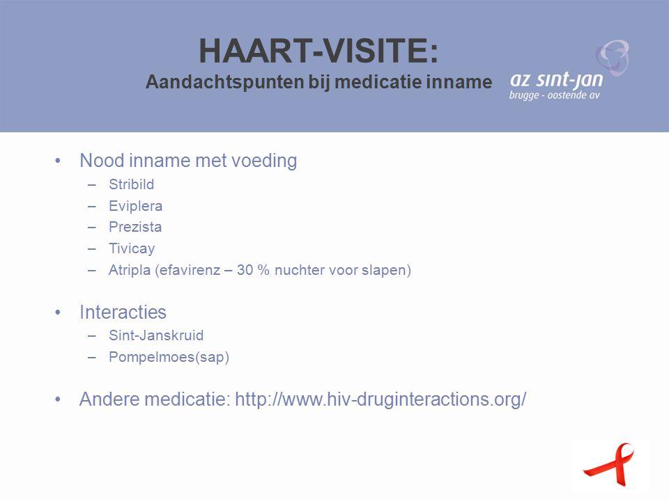 HAART-VISITE: Aandachtspunten bij medicatie inname