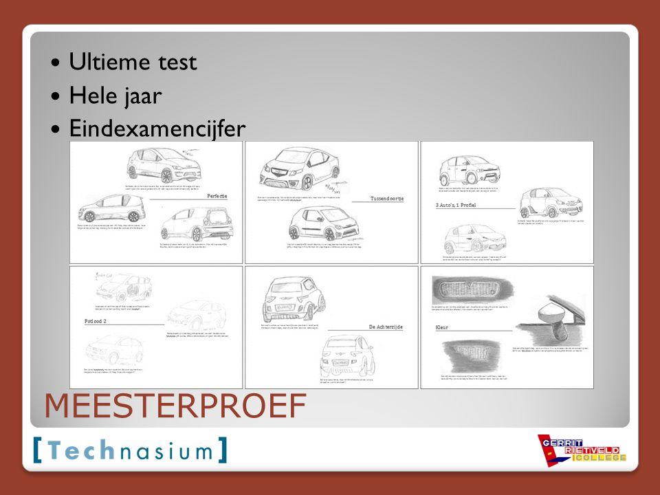 Ultieme test Hele jaar Eindexamencijfer MEESTERPROEF