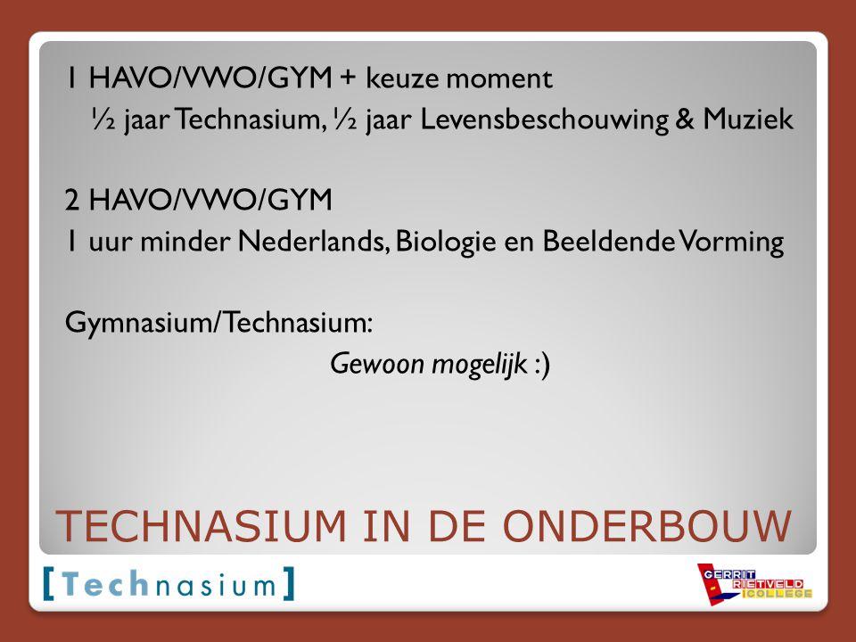 TECHNASIUM IN DE ONDERBOUW