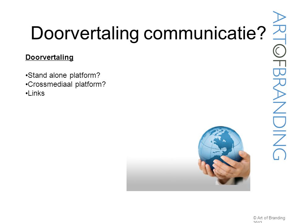 Doorvertaling communicatie
