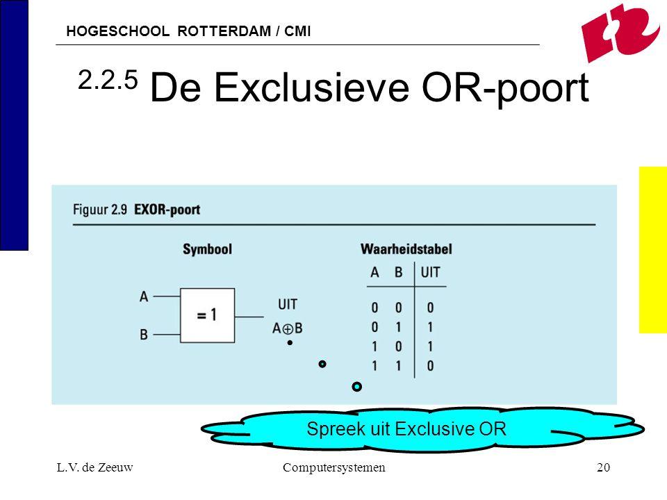 2.2.5 De Exclusieve OR-poort