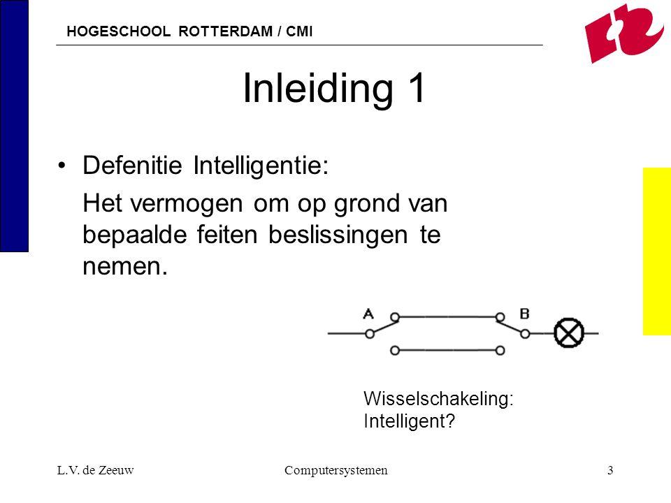 Inleiding 1 Defenitie Intelligentie: