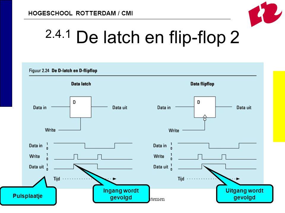 2.4.1 De latch en flip-flop 2 Ingang wordt gevolgd