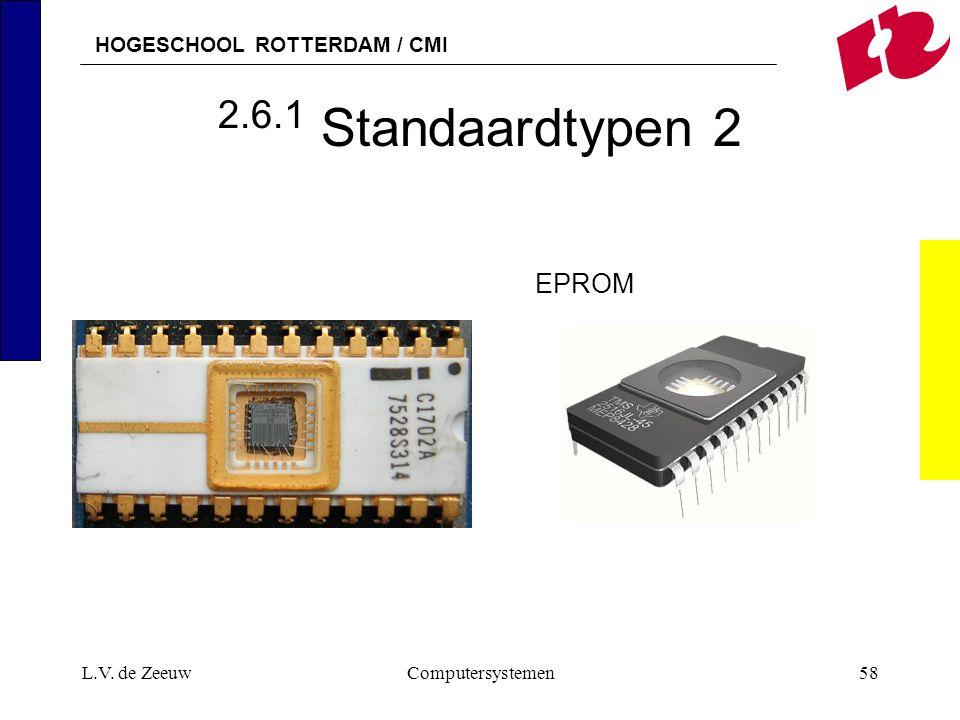 2.6.1 Standaardtypen 2 EPROM L.V. de Zeeuw Computersystemen