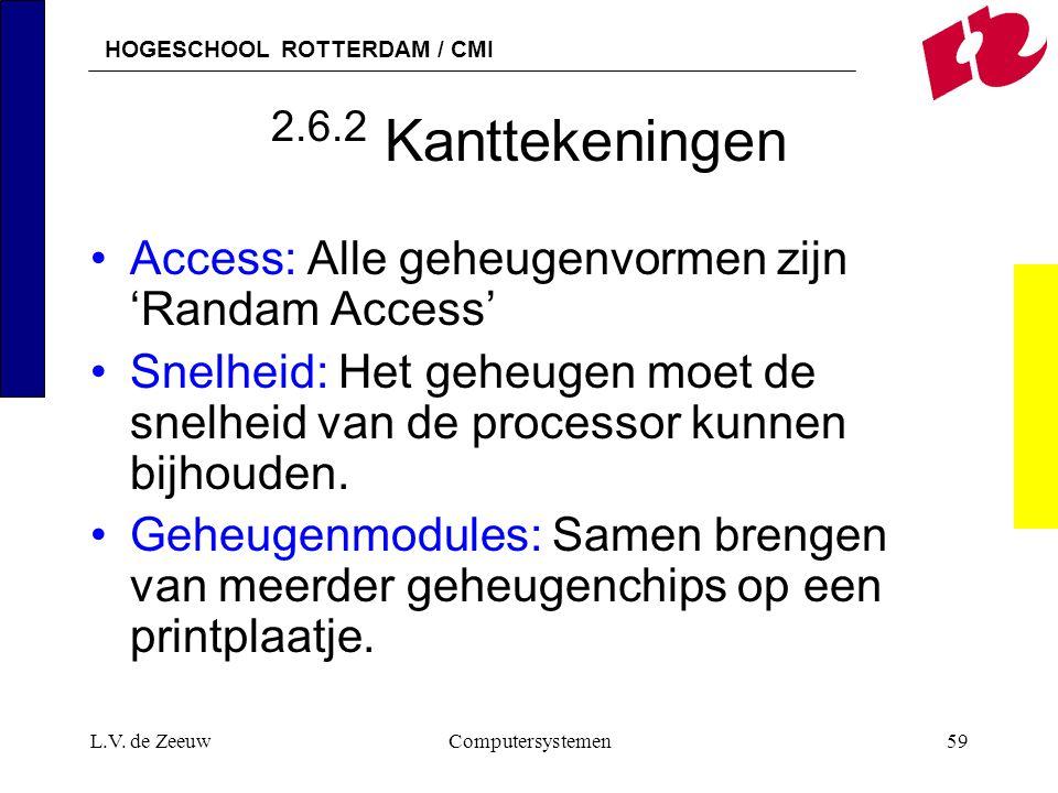 2.6.2 Kanttekeningen Access: Alle geheugenvormen zijn 'Randam Access'