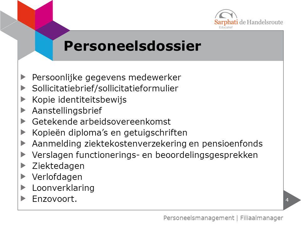 Personeelsdossier Persoonlijke gegevens medewerker