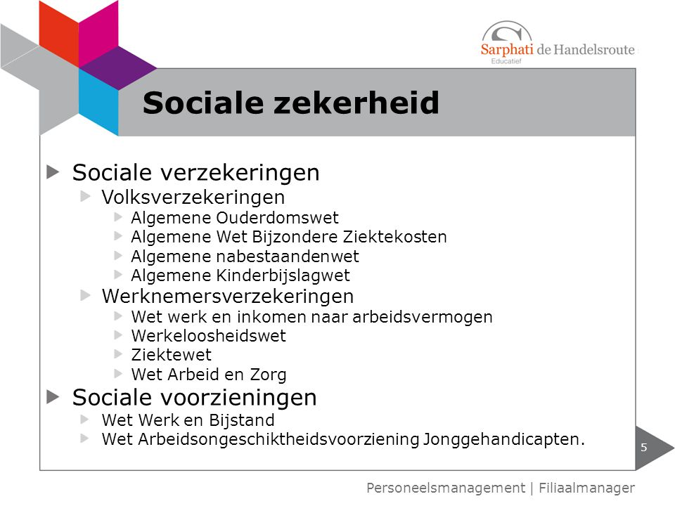 Sociale zekerheid Sociale verzekeringen Sociale voorzieningen