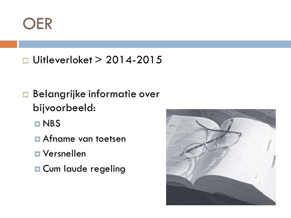 OER Uitleverloket > 2014-2015