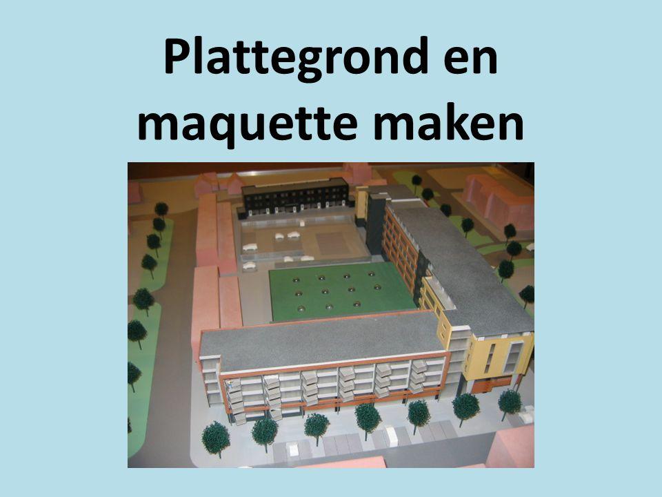 Plattegrond en maquette maken