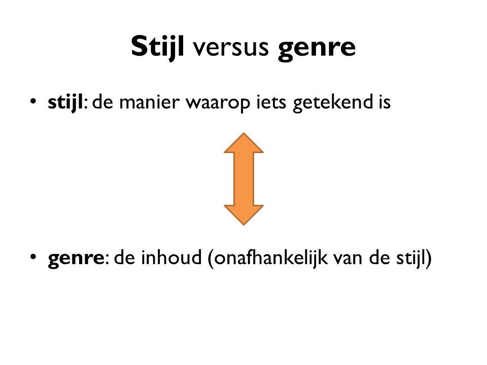 Stijl versus genre stijl: de manier waarop iets getekend is