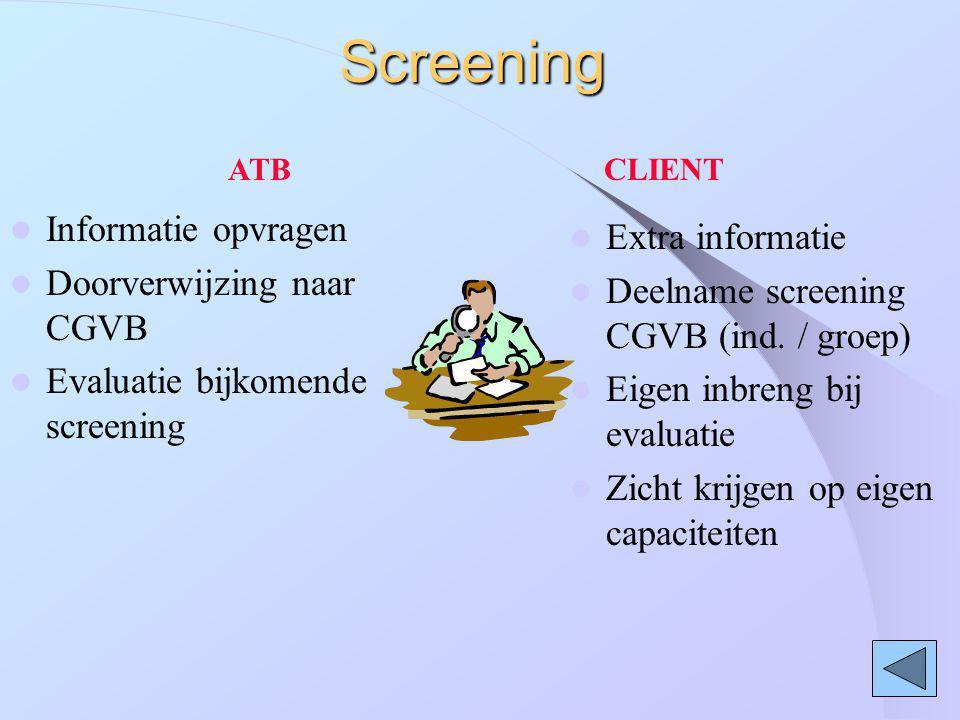 Screening Informatie opvragen Extra informatie