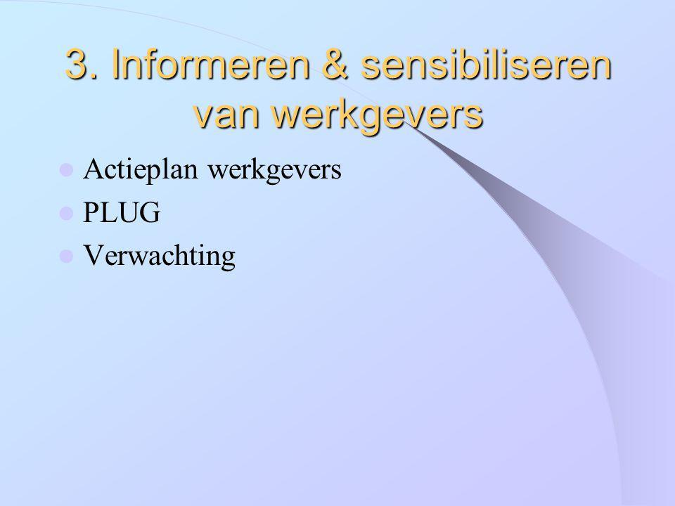 3. Informeren & sensibiliseren van werkgevers