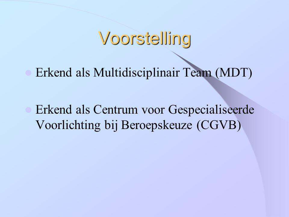 Voorstelling Erkend als Multidisciplinair Team (MDT)