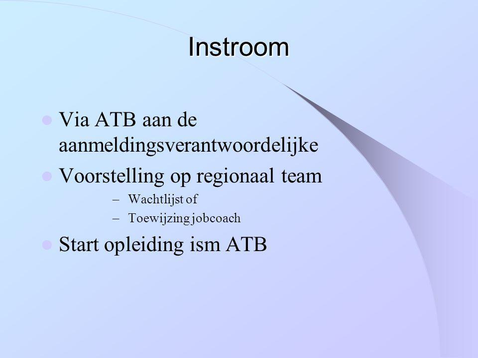 Instroom Via ATB aan de aanmeldingsverantwoordelijke