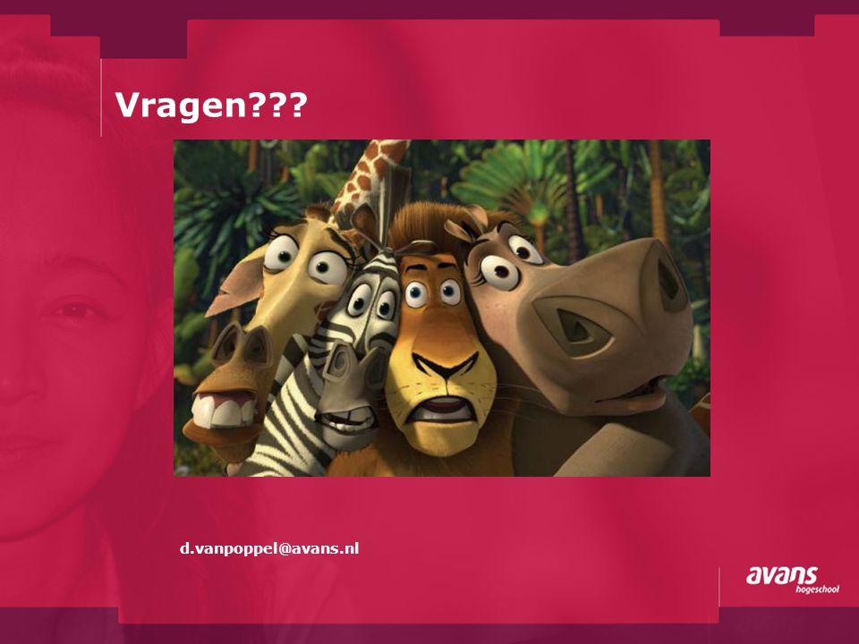 Vragen d.vanpoppel@avans.nl