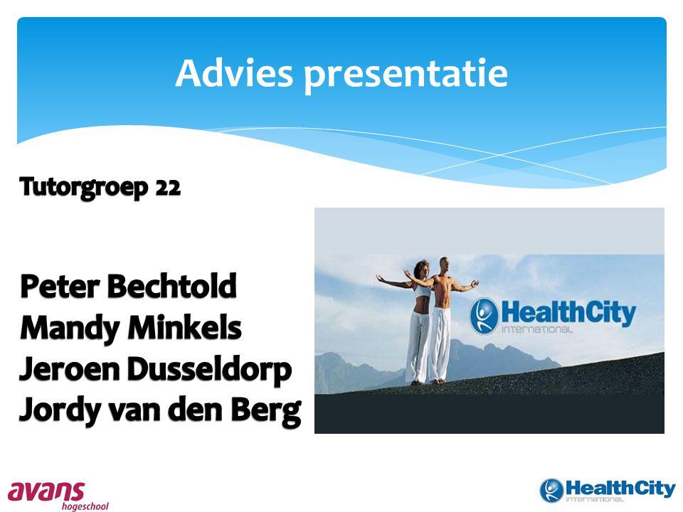 Advies presentatie Peter Bechtold Mandy Minkels Jeroen Dusseldorp