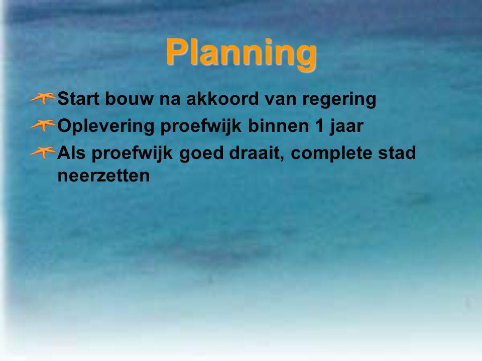 Planning Start bouw na akkoord van regering