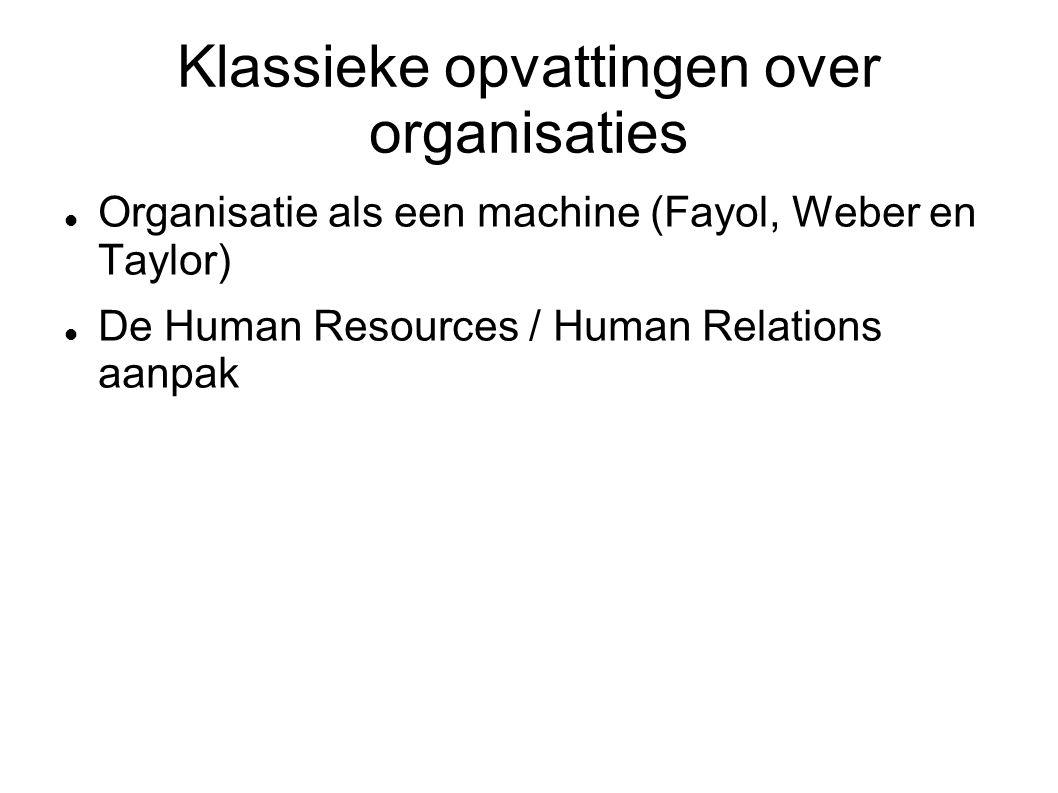 Klassieke opvattingen over organisaties