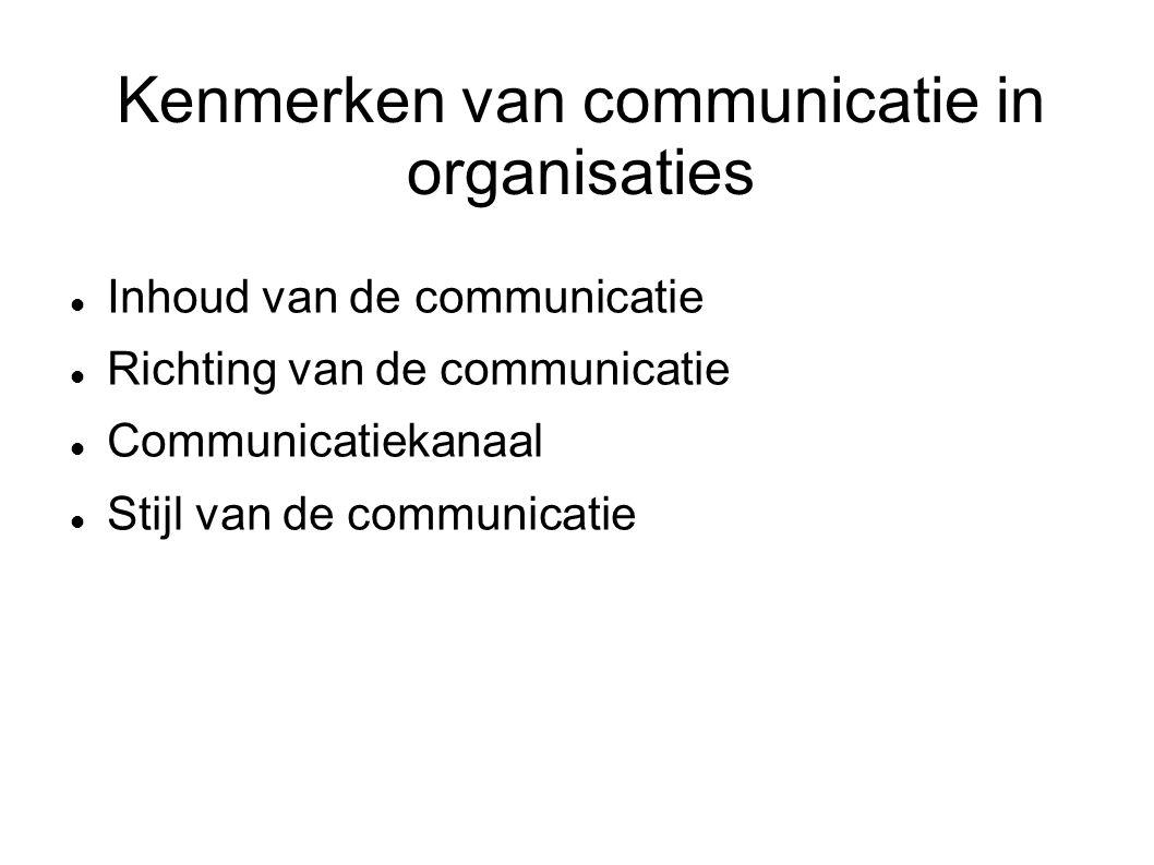 Kenmerken van communicatie in organisaties