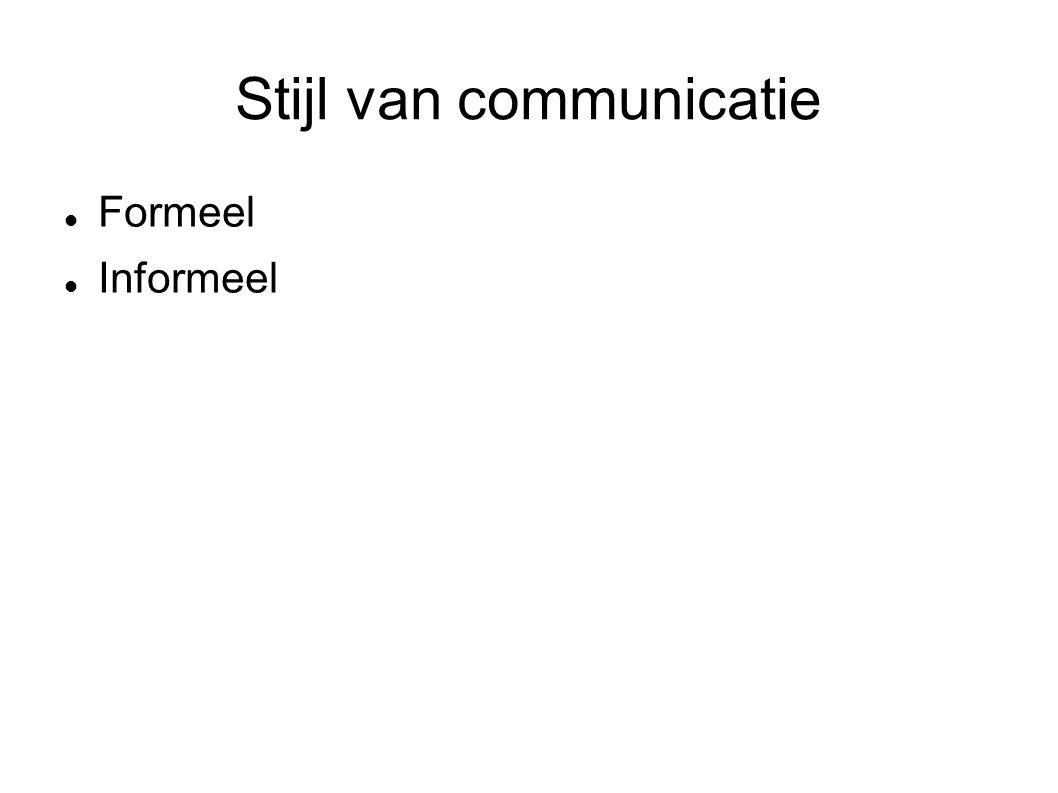 Stijl van communicatie