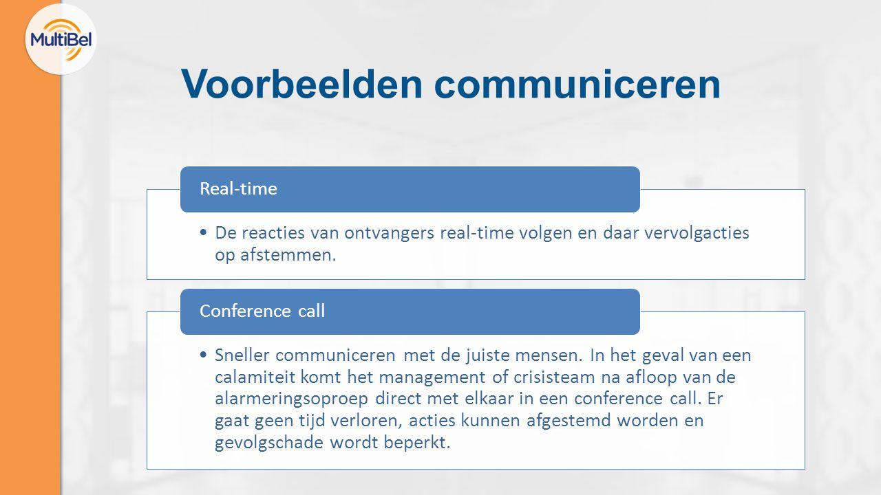Voorbeelden communiceren