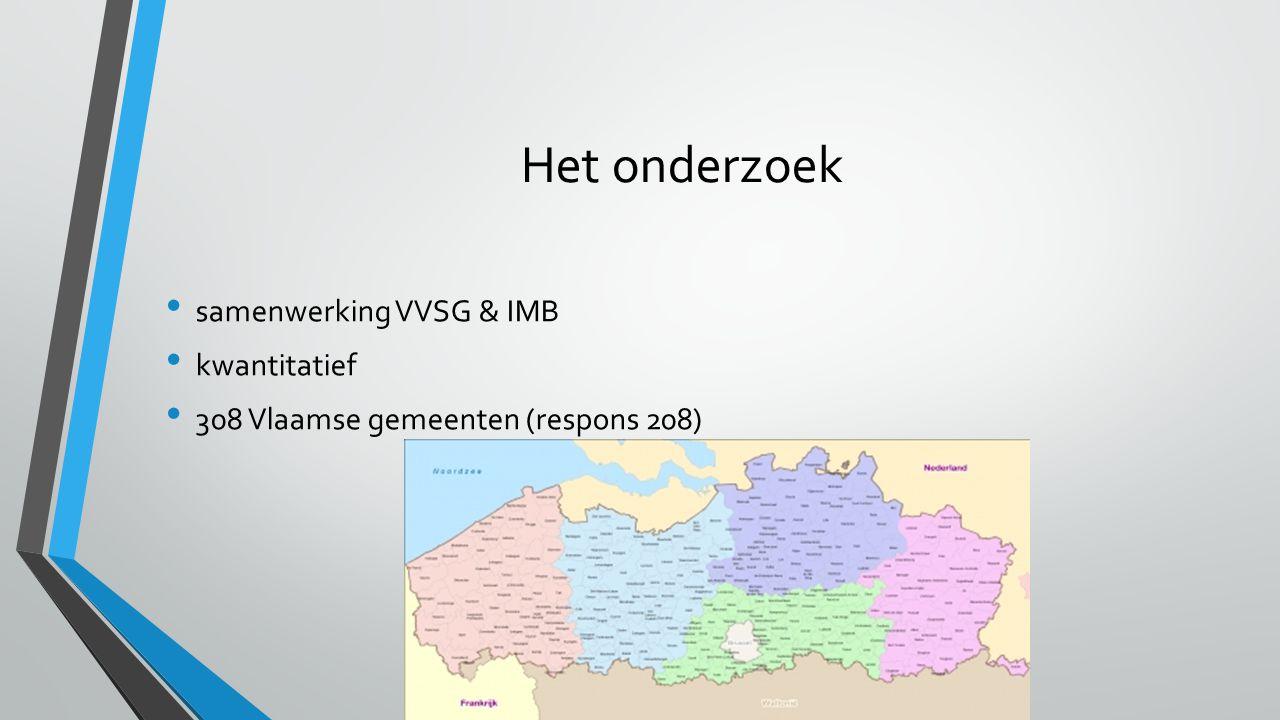 Het onderzoek samenwerking VVSG & IMB kwantitatief