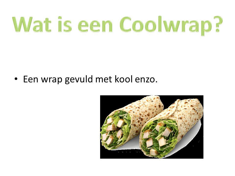 Wat is een Coolwrap Een wrap gevuld met kool enzo.