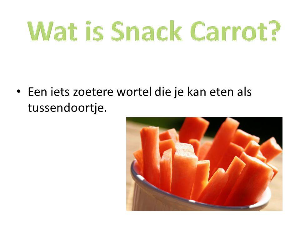 Wat is Snack Carrot Een iets zoetere wortel die je kan eten als tussendoortje.