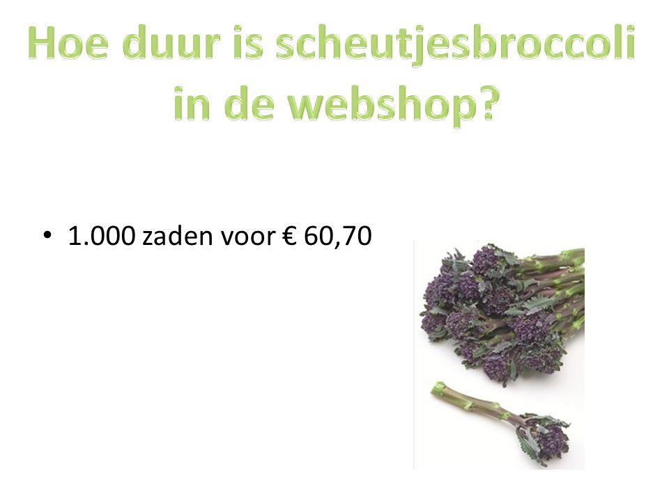 Hoe duur is scheutjesbroccoli