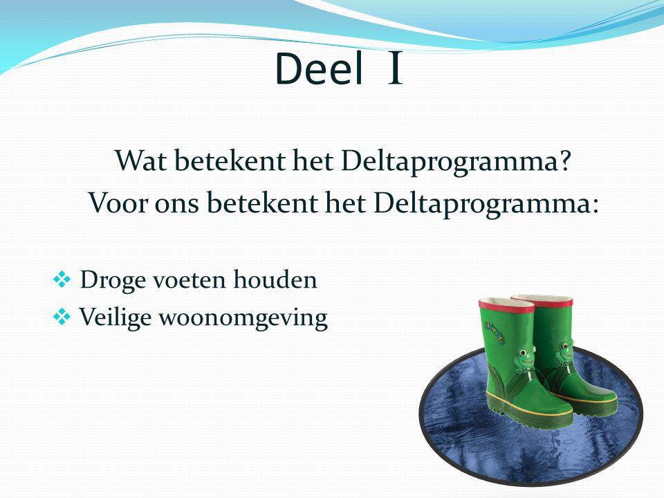 Deel  Wat betekent het Deltaprogramma