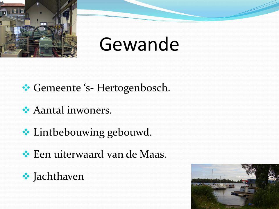 Gewande Gemeente 's- Hertogenbosch. Aantal inwoners.