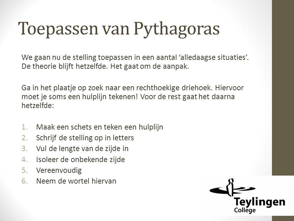 Toepassen van Pythagoras