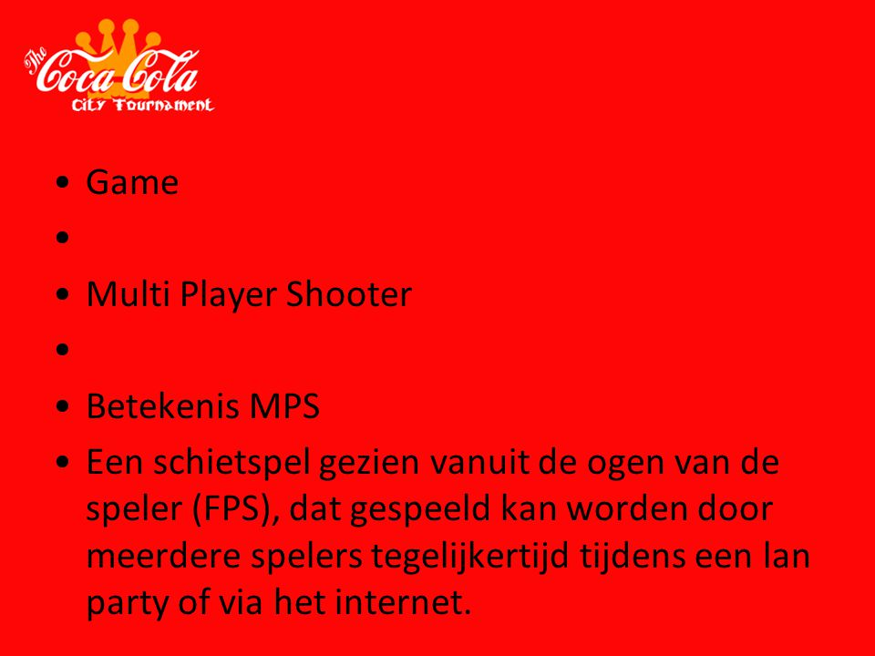 Game Multi Player Shooter Betekenis MPS
