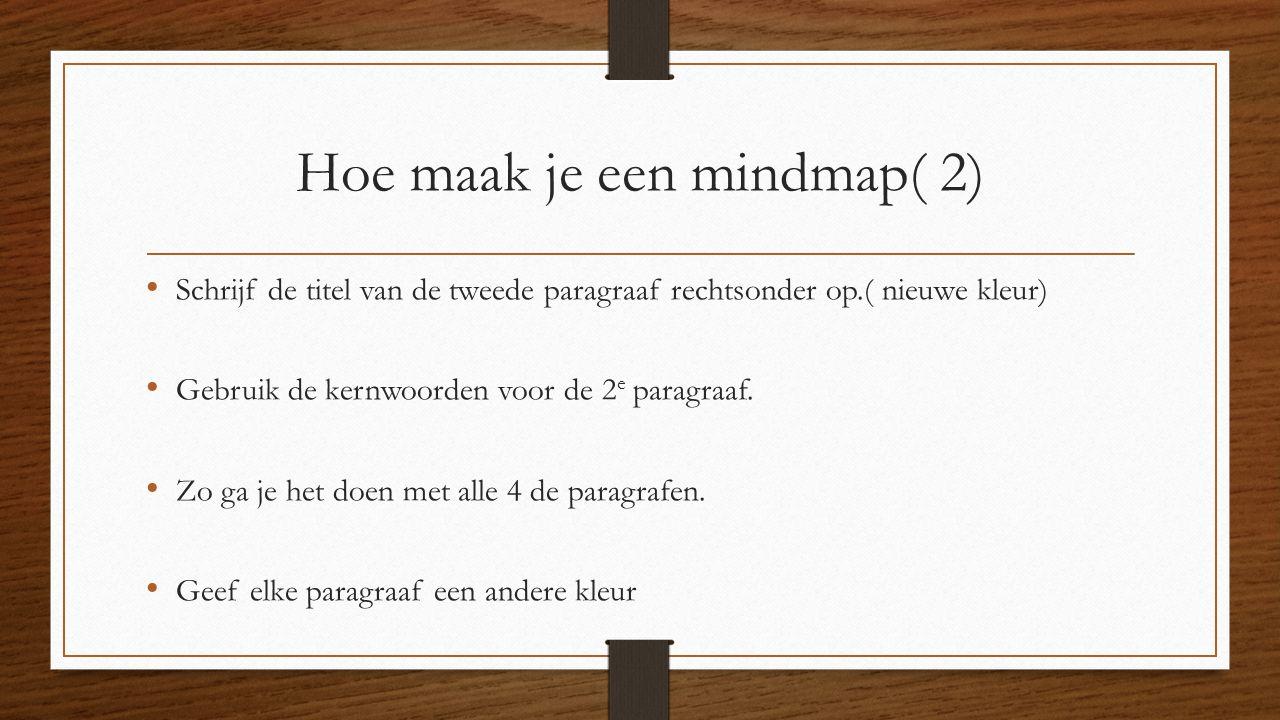 Hoe maak je een mindmap( 2)
