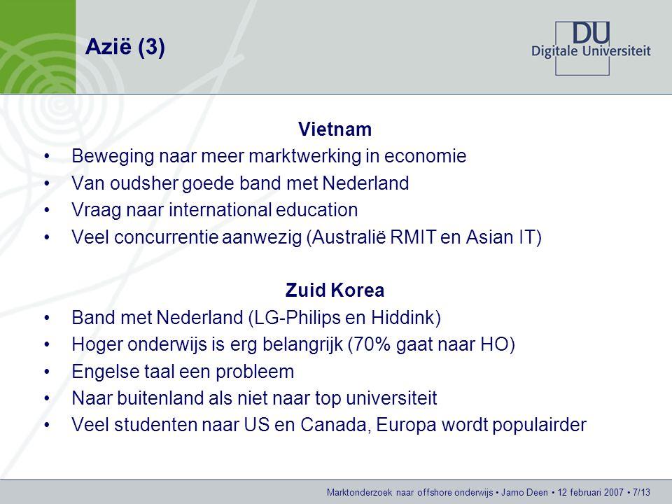 Azië (3) Vietnam Beweging naar meer marktwerking in economie
