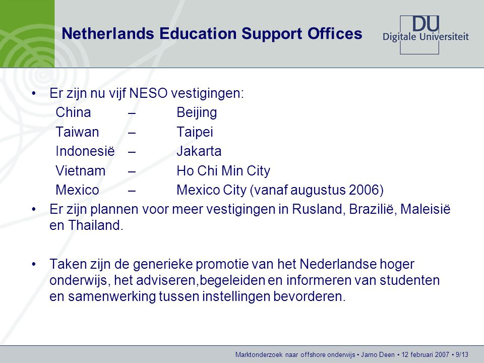 Netherlands Education Support Offices