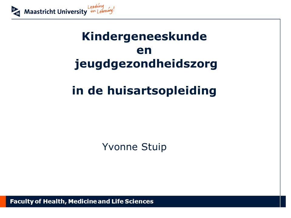 Kindergeneeskunde en jeugdgezondheidszorg in de huisartsopleiding