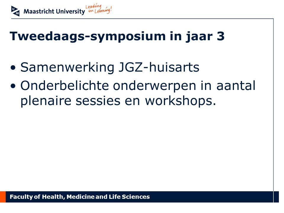 Tweedaags-symposium in jaar 3