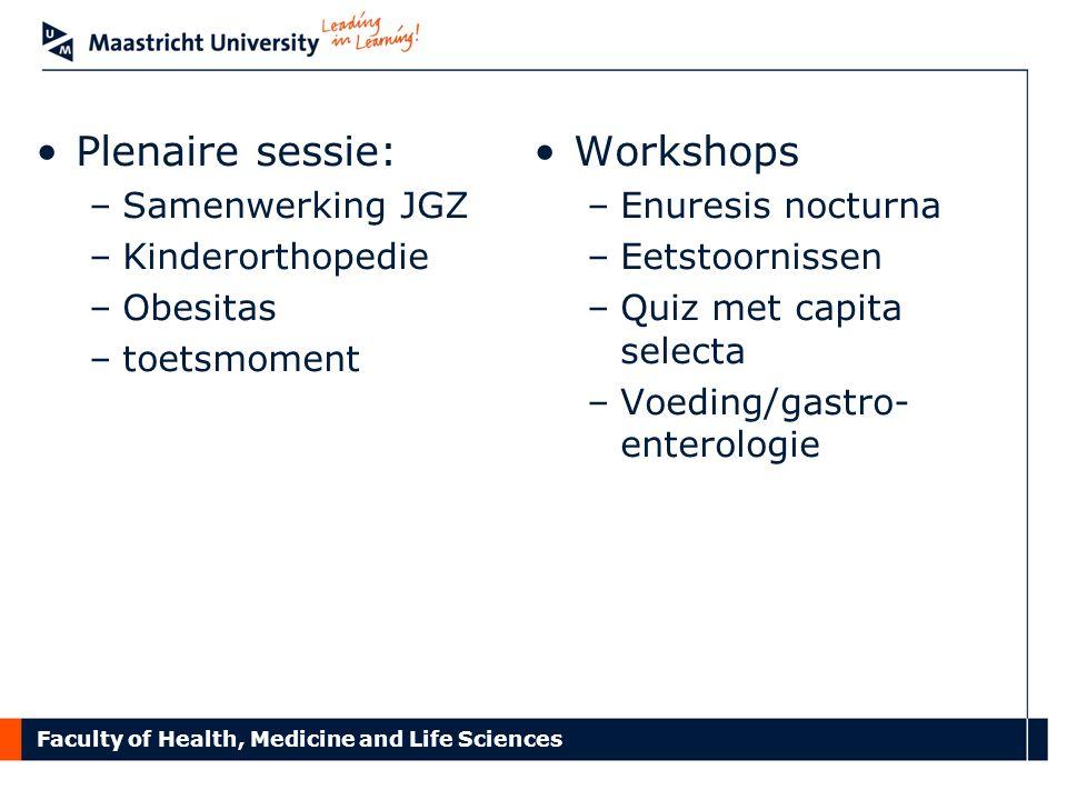 Plenaire sessie: Workshops Samenwerking JGZ Kinderorthopedie Obesitas