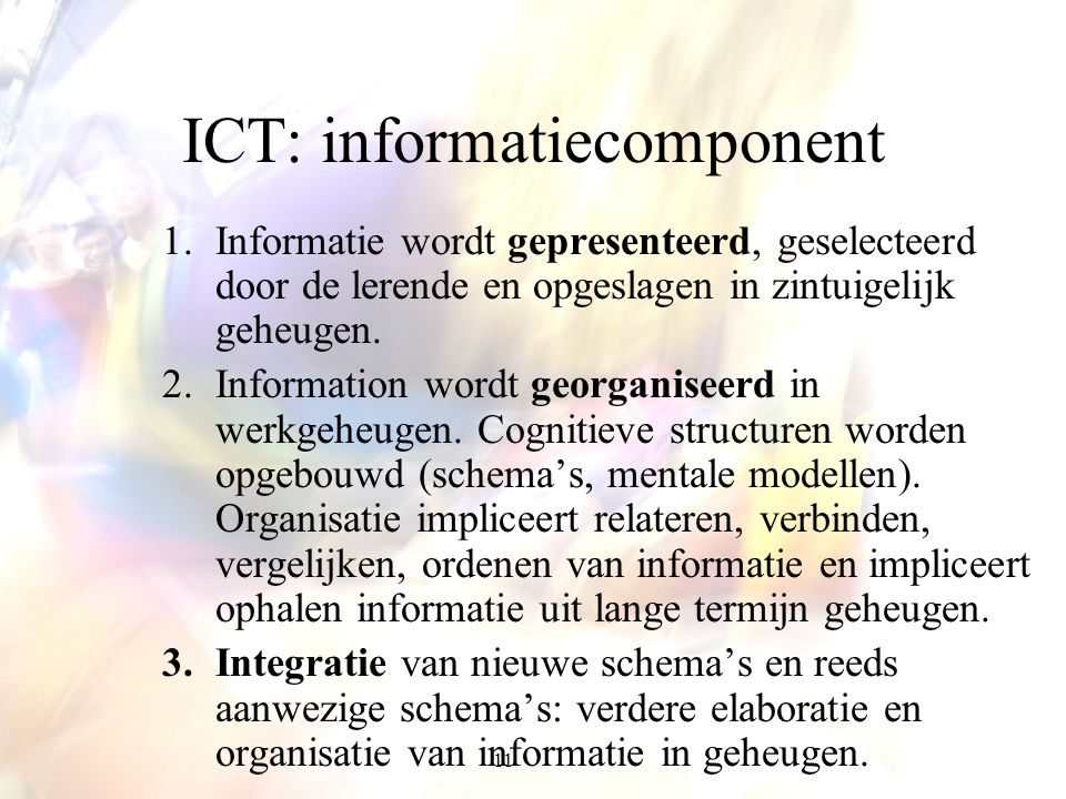 ICT: informatiecomponent