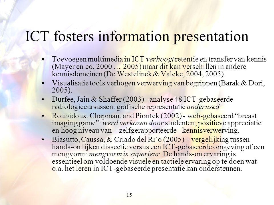 ICT fosters information presentation