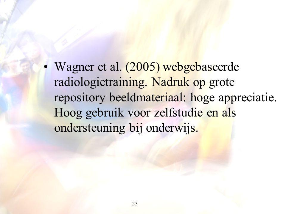 Wagner et al. (2005) webgebaseerde radiologietraining
