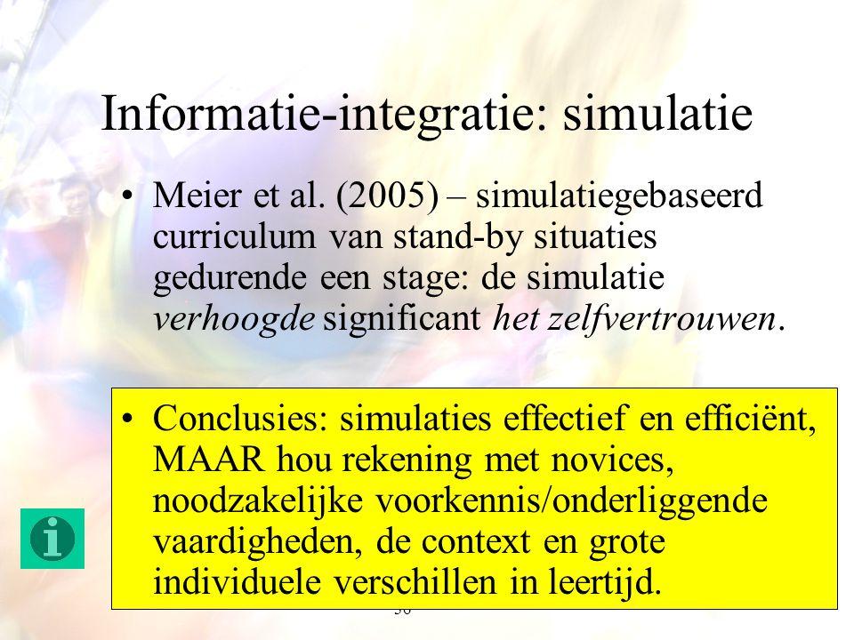 Informatie-integratie: simulatie