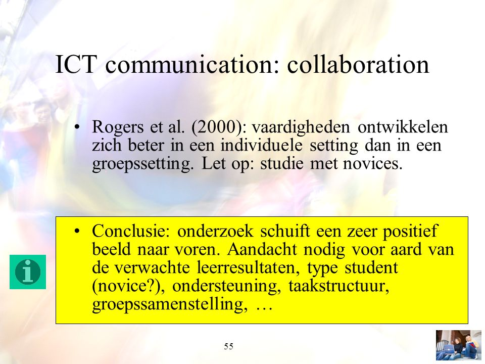 ICT communication: collaboration
